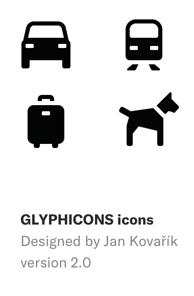 GLYPHICONS icons, designed by Jan Kovařík, version 2.0